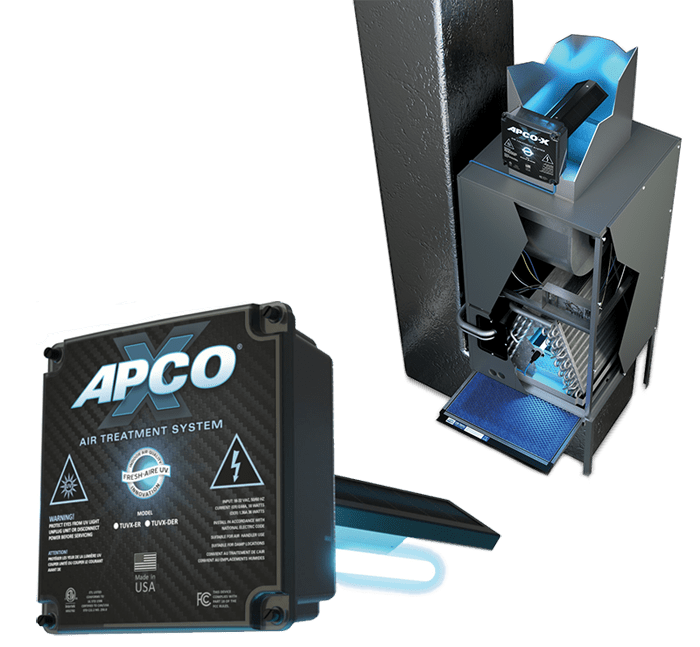 APCO X home air purification systems in Livingston County